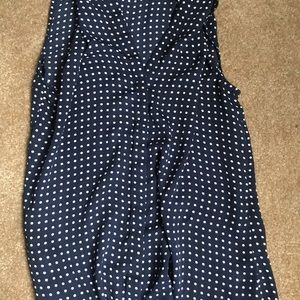Banana Republic Tops - Banana Republic polka dot Blouse-  Size 6